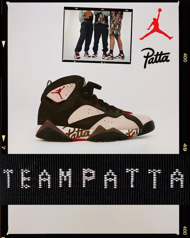国内6月15日発売予定 PATTA x NIKE AIR JORDAN 7