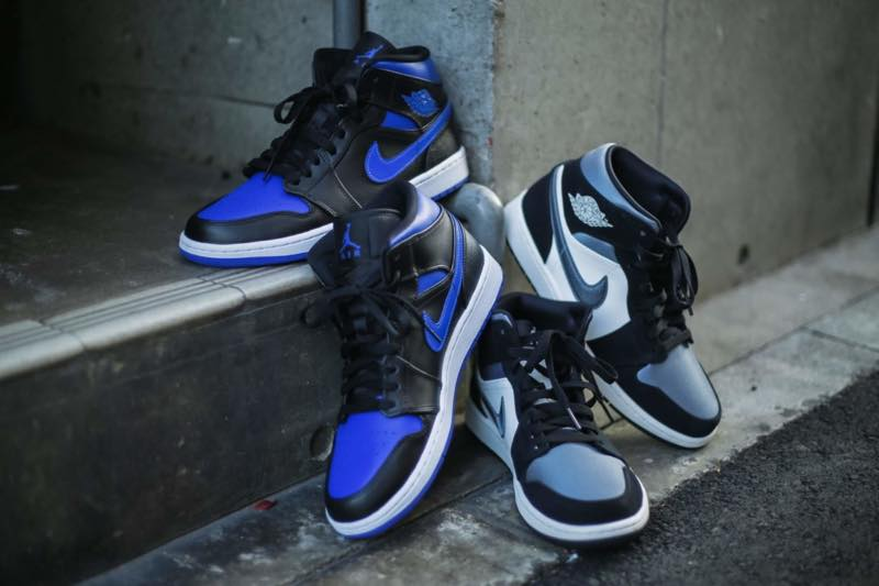 国内1月1日発売予定 NIKE AIR JORDAN 1 MID HYPER ROYAL/BLACK SAITN